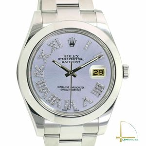 Rolex Mens Watch Datejust II Stainless Steel Silver Diamond Roman Oyster 41mm for Sale in HUNTINGTN BCH, CA