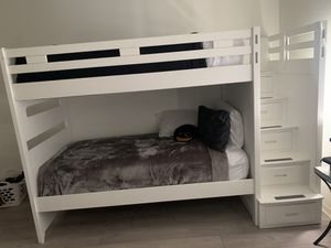 White bunk bed for Sale in Margate, FL