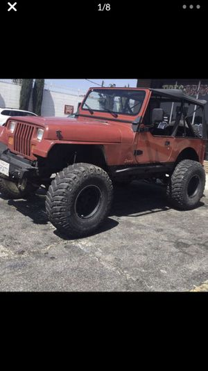 1988 Jeep Wrangler YJ 4.2 inline 6 cyl No Trades !! 139300 miles 5 speed manual trans... strong engine just tuned up clean no leaks, 4.5 rough co for Sale in West Covina, CA