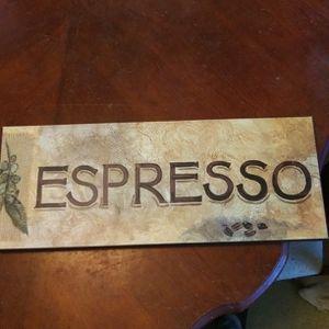 "Elegant sign that reads ""Espresso"" for Sale in Turlock, CA"