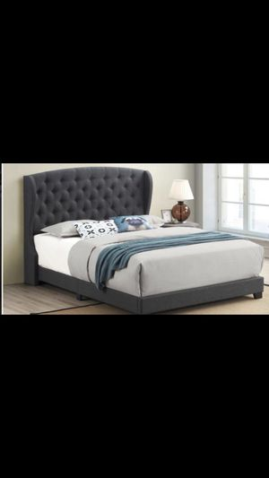 King bed frame with mattress and box spring included 550$ everything complete bed delivery available for Sale in Elmwood Park, IL