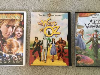 Disney WB DVDs Peter Pan, Wizard Of Oz, Alice In Wonderland for Sale in Issaquah,  WA