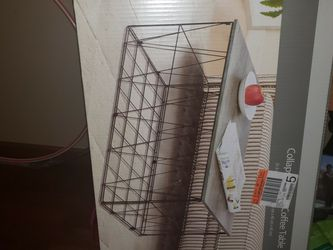 Wood Top Metal Cage Bottom Coffee Table for Sale in Washington,  DC