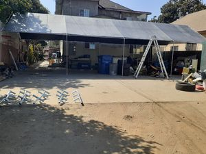 20 by 40 canopy top and frame only for Sale in Bonita, CA