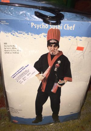 Adult Halloween costume psycho sushi chef for Sale in Jan Phyl Village, FL