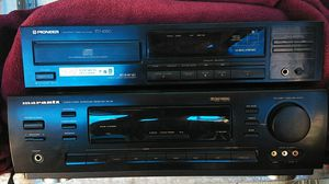 A marantz stereo receiver/ with a pioneer CD deck for Sale in Tacoma, WA