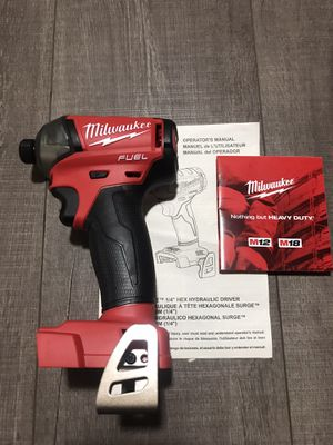 Milwaukee M18 FUEL SURGE 18-Volt Lithium-Ion Brushless Cordless 1/4 in. Hex Impact Driver (Tool-Only) brand new unbox for Sale in Union City, CA