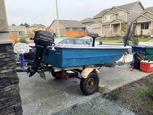 12Ft Bass Boat w/ trailer for Sale in Stanwood, WA