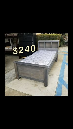 Twin bed frame with mattress included for Sale in Gardena, CA
