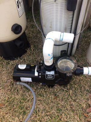 Pool pump. 1 HP. essentially new for Sale in San Antonio, TX