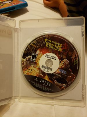 Anarchy Reigns PS3 for Sale in Covina, CA