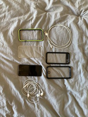 iPhone 7 with life proof cases charger and headphones for Sale in Dana Point, CA