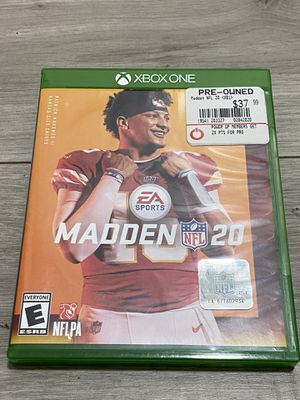 Madden 20 for Xbox One for Sale in Costa Mesa, CA
