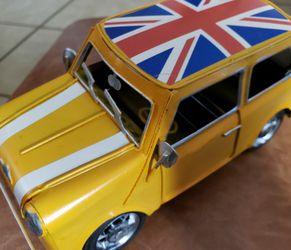 Retro Mini Cooper Vintage Tin Metal Hand Made UK Flag for Sale in Fresno,  CA