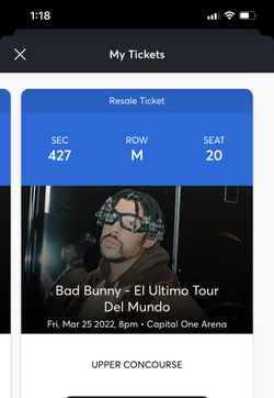 Bad Bunny Tickets  for Sale in Annandale, VA