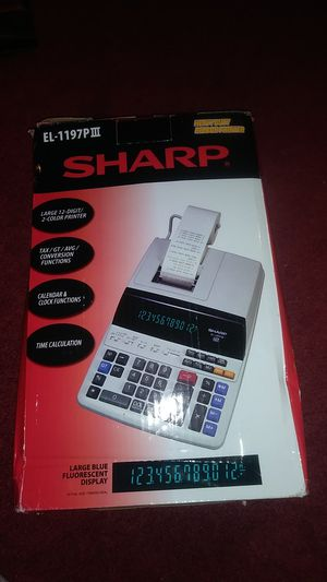 Sharp el 1197plll 12 digit desktop for Sale in Kansas City, MO