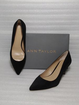 Ann Taylor heels. Size 9 women's shoes. Black suede. Brand new in box. Retail $128 for Sale in Suffolk, VA