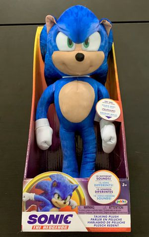 "Sonic the Hedgehog 13"" Talking Plush Toy from Sonic Movie for Sale in Chandler, AZ"