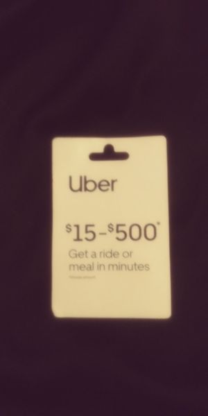 $25 uber card ended up never using selling for $20 for Sale in Belleview, FL