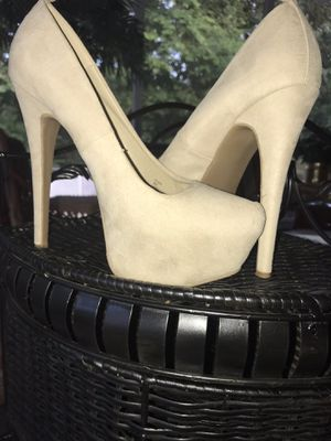 Suede Nude Heels for Sale in Fenton, MO