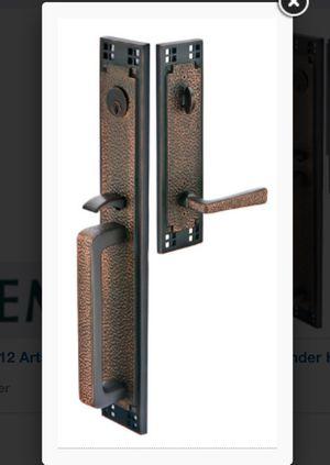 New in box Emtek entry door bronze hardware for Sale in Montclair, CA
