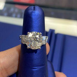 U3976 DIAMOND ENGAGEMENT RING 5.30 CARAT LADIES WEDDING 14k GOLD for Sale in Beverly Hills, CA