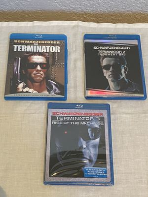 Terminator Blu Ray 1-3 for Sale in Fresno, CA
