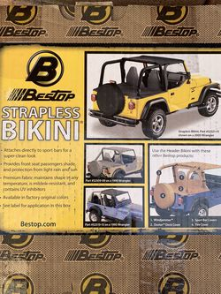 Jeep 1986-1991 Bestop Strapless Bikini for Sale in Turlock,  CA