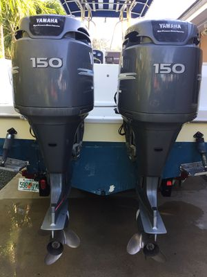 Twin Yamaha 150 outboard motors for Sale in Miami, FL