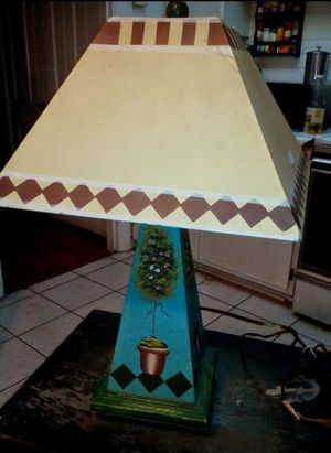 Metal Shade Topiary Tabletop Lamp for Sale in Fort Worth, TX