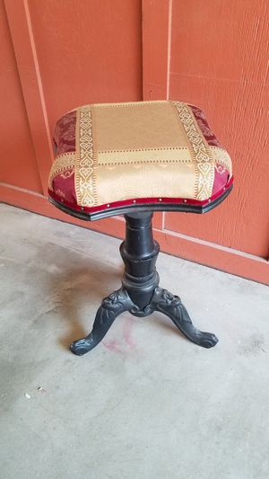 1873 cast iron and walnut piano stool for Sale in Redwood City, CA