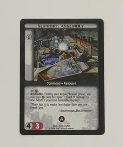 Battletech TCG Support Assembly Wizards of the Coast Trading Card for Sale in Oregon City,  OR