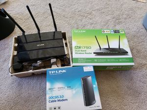 TP link modem + dual band wifi router for Sale in San Mateo, CA