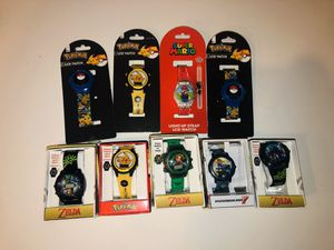 Kids Pokémon Super Mario Star Wars Zelda Wristwatches Price is for Each for Sale in Rancho Cucamonga, CA