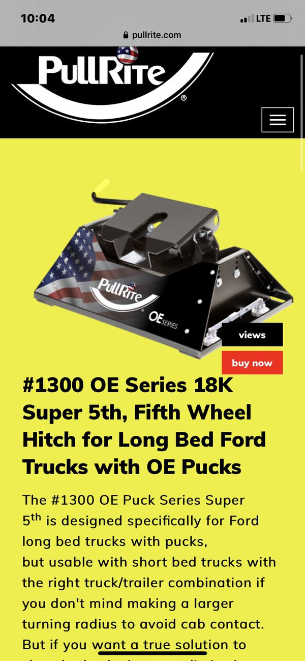 Ford 18,000lb Fifth Wheel Hitch