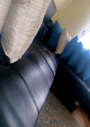 IKEA - Black Lather Sectional for Sale in Washington, DC