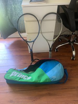 Prince tennis Raquets and carrying case for Sale in Los Angeles, CA