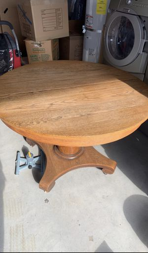 Beautiful solid oak dining table for Sale in Chelan, WA