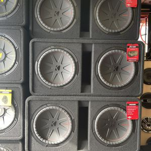 """Kicker Dual CompR 12"""" 2000W 2-Ohm High-Performance Loaded Subwoofer Enclosure for Sale in San Diego, CA"""