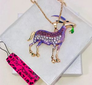 """Betsey Johnson """"GRAZING BILLY GOAT!"""" Super cute violet purple billy goat necklace NEW! for Sale in Carrollton, TX"""