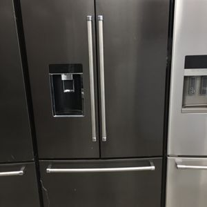 Kitchen Aid Black Stainless Steel French Door Counter Depth Refrigerator for Sale in La Habra, CA