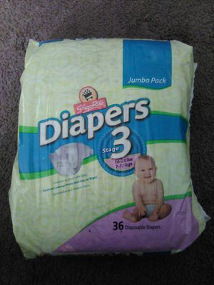 Shop rite jumbo pack 36 diapers for Sale in Woodbury, NJ