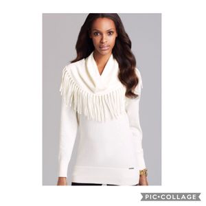 Michael Kors angora cowl neck fringe sweater for Sale in Bakersfield, CA