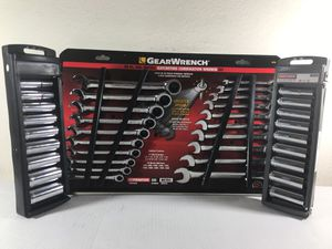 Craftsman socket set and GearWrench ratcheting combination wrench set for Sale in Houston, TX