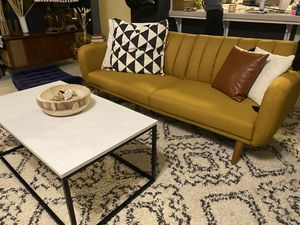 Mustard Mid Century Inspired Couch for Sale in Clovis, CA