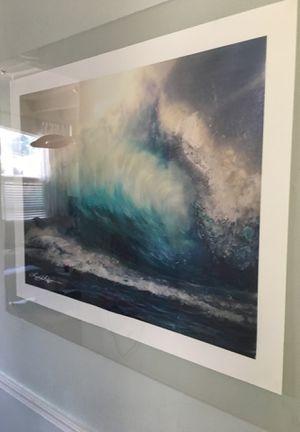 Wave art with acrylic frame for Sale in Boynton Beach, FL