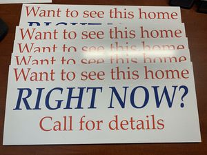 "5 - real estate signs - 10"" tall by 25"" wide and 1/4"" thick for Sale in Oceanside, CA"