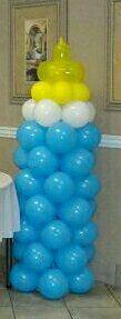 Baby bottle balloon decor for Sale in McDonough, GA