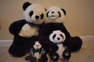 Panda Bears Family Stuffed Animals Toy for Sale in Matthews, NC