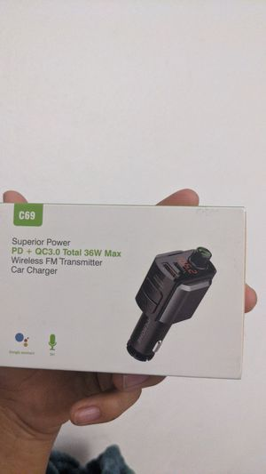 Fm Bluetooth transmitter with quickcharge for Sale in Norwalk, CA